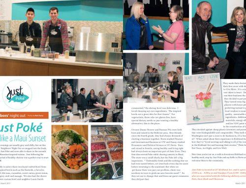 Just Poké: Just like a Maui Sunset — Kirkland Living Magazine, March 2017